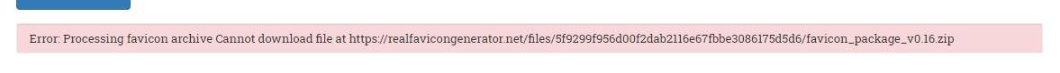 error processing zip