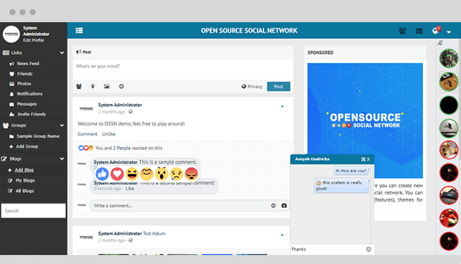 open source social network newsfeed